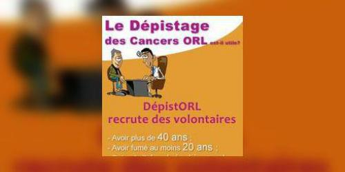 Depistage des cancers ORL : appel a volontaires