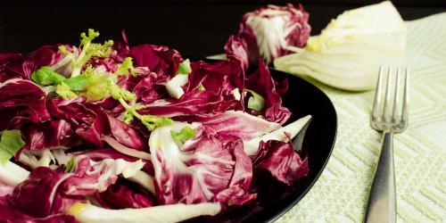 Salade endives rouges, haddock